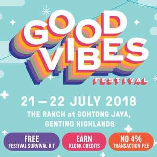 Good Vibes Festival x2 tickets