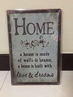 Home Wall Art Decor Metal Tin Sign Vintage Petal Poster Iron Plate