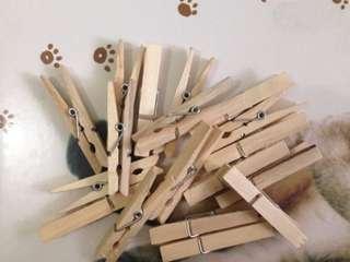Wooden clip foto instax polaroid +- 7.5 cm