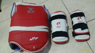 Taekwondo Body protector + hand & leg protector