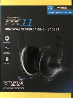 Turtle Beach Ear Force PX11 Universal Stereo Gaming Headset with Mike