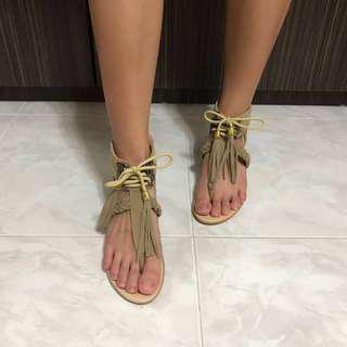 🆕 summer beige sandal with heels👡 夏季杏色女裝有踭涼鞋