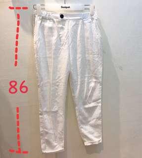 🚚 白色直筒褲