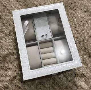White Premium Quality Leather Jewelry Box Watch Organizer