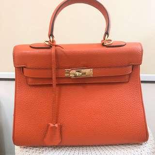 Hermes kelly 28 in orange