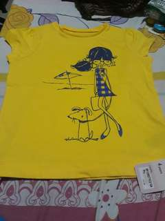 Mother Care yellow shirt