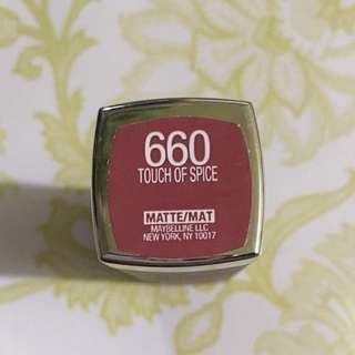 Maybelline Creamy Matte: Touch Of Spice