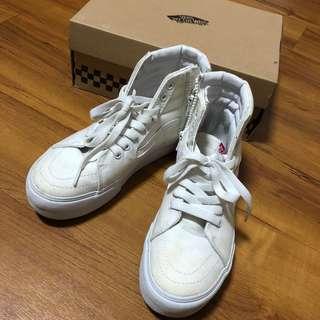 🚚 Vans 白色高筒帆布鞋