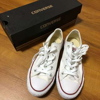 🚚 Converse 白色帆布鞋