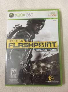 Xbox 360 Game Live Operation Flashpoint Dragon Rising