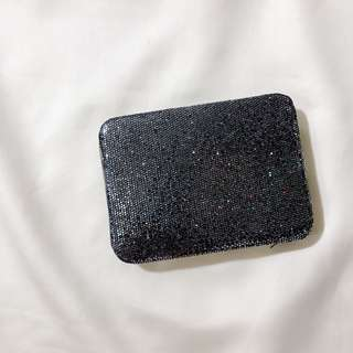 Forever 21 Gray Glitter Card Case Wallet