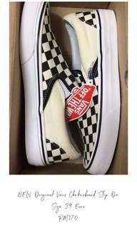[CAN NEGO] Vans Checkerboard Slips On