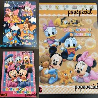 Disney Characters Baby Mickey & Friends A4 Clear File