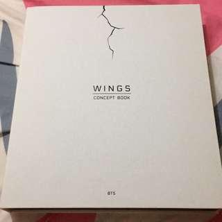 🚚 BTS防彈少年團 WINGS CONCEPT BOOK 寫真書