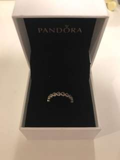Pandora linked hearts ring