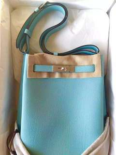 全新Hermes 絕版 So Kelly 22 3P Blue Atoll ( 罕有Tiffany Blue )