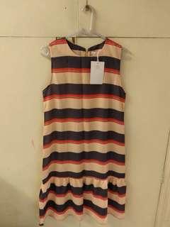 全新韓國横間絲質背心連身裙 Brand New Korea One Piece Skirt