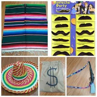 Costume: Poncho & sombrero (Mexican Bandit)