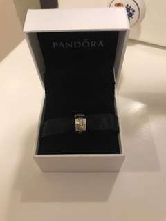 Pandora sterling silver shining path clip
