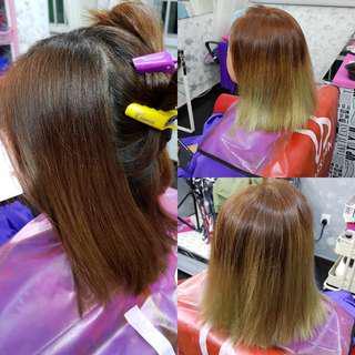 Hair dye nail polish