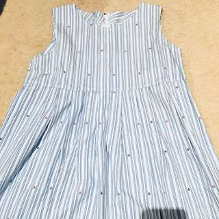 GORMAN STYLE DRESS WITH SAILOR DETAILS STRIPPED BABYDOLL