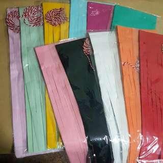 Party Paper/Foil Tassels In Multiple Colours!