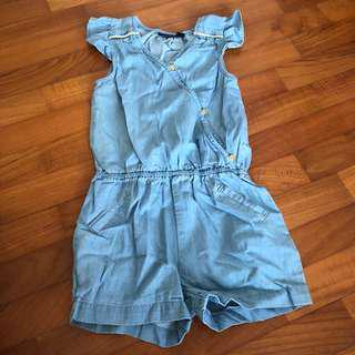 2-3T NEW Kiabi chambray romper