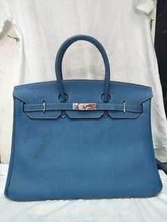 Hermes Birkin 35 blue jean