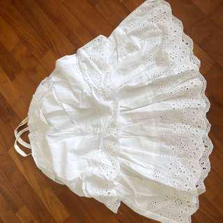 3T NEW Vertbaudet white Eyelet lace dress toddler