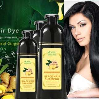 Best Selling Mokeru Ginger Natural Black Hair Dye Shampoo Ready Stock Fast Delivery