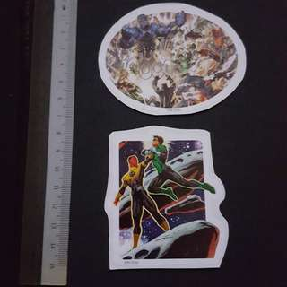 C5B DC Comics Green Lantern Vs Sinestro & Battling Darkseid Sticker Stickers
