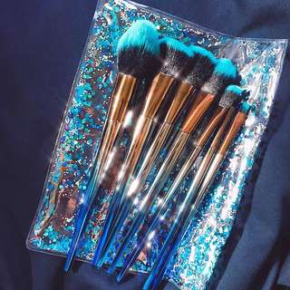 Deep Sea Makeup Brush Set with Pouch