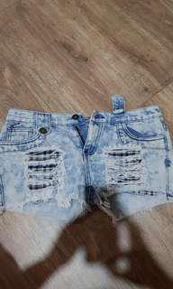Denim jeans short