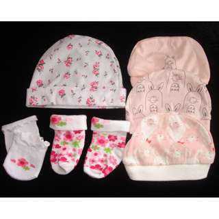 Bonnets Mittens Preloved Baby Clothes Take all