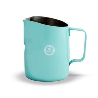 Tiamo tapered milk jug 450ml. teal blue