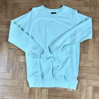 hype mint green pullover