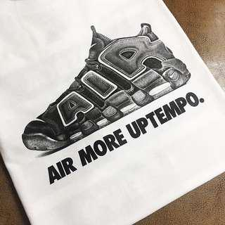 Air More Uptempo 素描風 短袖 tee