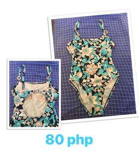 Blue Floral 1-piece