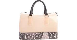 Authentic Furla Orchidea & Snakeskin accented bag