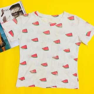 Korean Tattered Watermelon Shirt