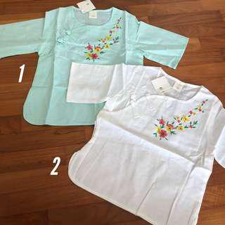 3-4T NEW Embroidered Chinese top toddler girls