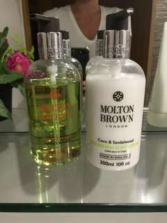 Molton Brown hand wash and body lotion