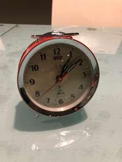 Clock - five rams -china hand wind alarm clock - 五羊