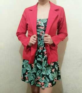 Red blazer coat