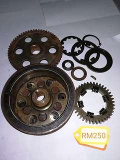 Magnet 1 set Modenas Jaguh Orimoto + One way bearing