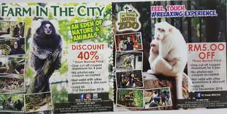 Farm In The City 40% Discount + KL Tower Mini Zoo RM5 off
