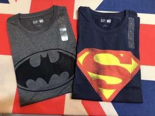 🚚 全新現貨在台-GAP DC聯名款 蝙蝠俠 超人T-shirt版型正常保證正品正貨