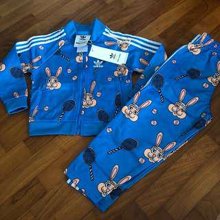 2-3T NEW Adidas Originals Mini Rodini bunny tracksuit Set