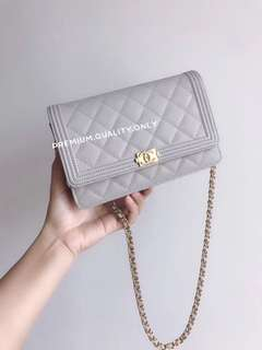 Chanel Boy WOC - grey