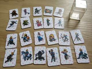 Zelda botw Amiibo Mini Cards set of 22 nintendo switch